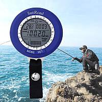 Рыбацкий барометр SunRoad SR204 (высотомер, термометр, прогноз погоды, календарь, часы, подсветка)