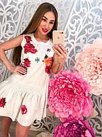 Женское стильное платье с нашивками, фото 1