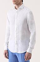 Рубашка приталеная слим из льна. Натуральный 100% лен. Фабричное качество стандартный и большой размер