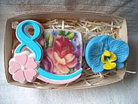 Набор мыла ручной работы подарочный 8 марта