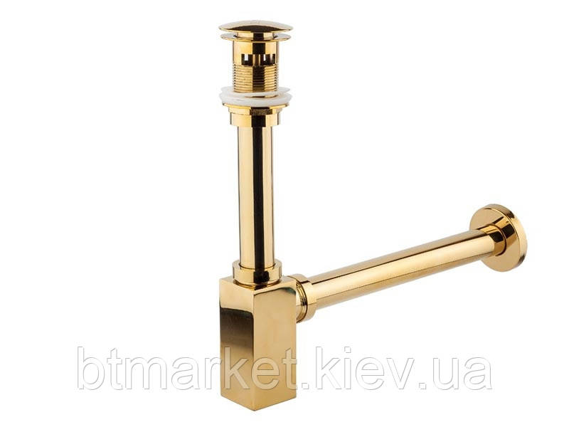 Сифон для умывальника NEWARC (760523G) для умывальника золото