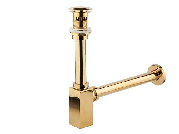 Сифон для умывальника NEWARC (760523G) для умывальника золото, фото 2