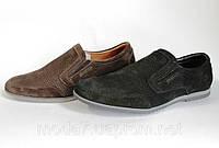 Мужские кожаные мокасины-туфли Braxton