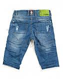 Капри шорты голубые рваные мужские джинсовые Mario, фото 6