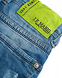 Капри шорты голубые рваные мужские джинсовые Mario, фото 8