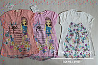 Детская летняя туника Девочка с цветами размер 6,7,8,9