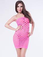 Соблазнительное мини платье с большой сеткой сексуальное эротическое белье
