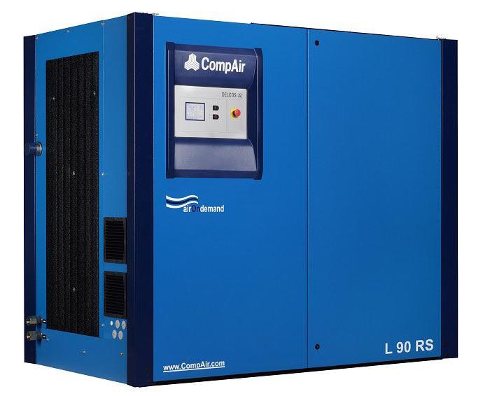 Винтовой маслозаполненный компрессор CompAir L90 90кВт