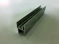 Профиль алюминиевый для раздвижных дверей, цвет серебро
