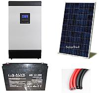 Автономна сонячна електростанція 3 кВт (від 360 до 468 кВт/місяць)