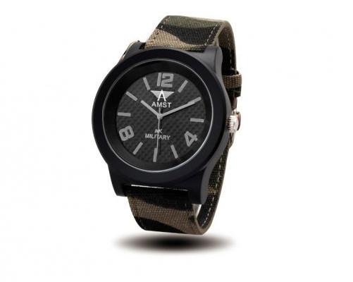 Годинники чоловічі наручні AMST Willys+фірмова коробка в подарунок black-gray