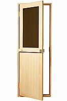 """Двери для бани и сауны (модель """"Макс"""") 678х1880, 14мм стекло"""
