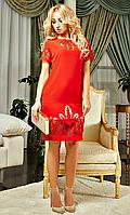 Модное женское платье в красном цвете