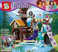 """Конструктор SY Friends 832 """"Спортивный лагерь: дом на дереве"""" (аналог LEGO Friends 41122), 754 дет"""
