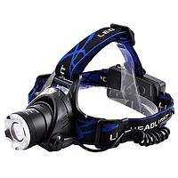 Ультрафиолетовый налобный фонарь 204C-UV 365 nm, ultra strong, 2 акк. 18650