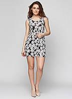 Летнее женское платье с белыми цветами СС6342-05