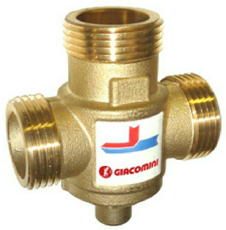 Термостатический клапан для твердотопливного котла Giacomini DN25 70 °C