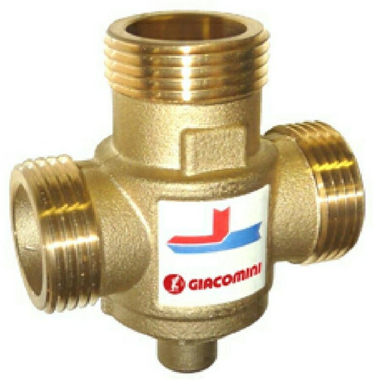 Купить Строительство, Термостатический клапан для твердотопливного котла Giacomini DN25 70 °C