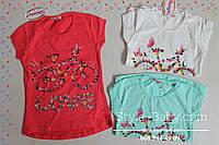 Футболка туника для девочки Велосипед цветы размер 8-9,10-11,12-13,14-15