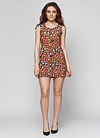 Летнее женское платье с яркими цветами СС6342-22