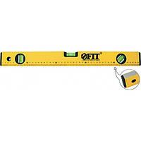 Уровень, усиленный, желтый, фрезерованная грань, 3 глазка, 1200 мм