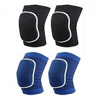 Волейбольные наколенники (2шт) DIKES BC-0835 взрослые (PL, эластан, безразмерный, черный, синий)