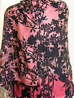 Легкий шарфик с цветочным принтом