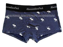 Мужские трусы хипсы Abercrombie&Fitch (реплика) тёмно-синие