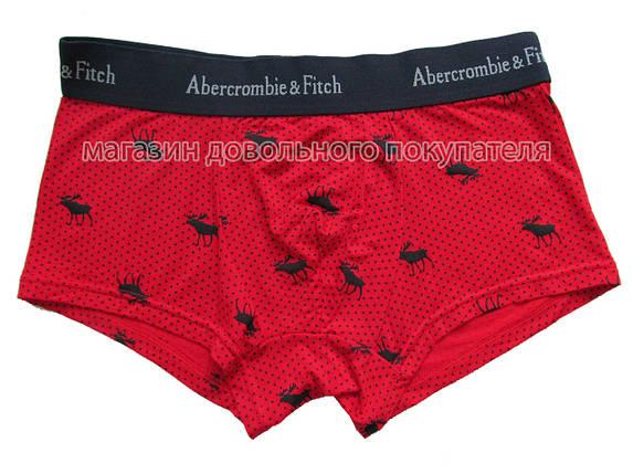 Мужские трусы хипсы Abercrombie&Fitch (реплика) красные, фото 2