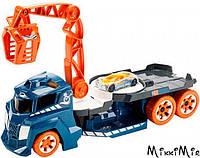 Грузовик с краном со звуковыми и световыми эффектами, Hot Wheels, Mattel, Бирюзовый