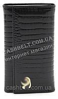 Стильная оригинальная лакированная кожаная ключница art. B9048 черного цвета, фото 1