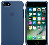 Силиконовый чехол Apple Silicone Case (MMWW2FE/A) для Iphone 7 (Ocean Blue | Синий) Original