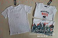 Фирменная футболка для мальчика Тропики размер 5,7,8 лет