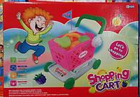 Детская пластмассовая тележка с продуктами FZ899-17/FZ89