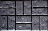Форма для изготовления плитки Блок дорожный №4 75х50х8