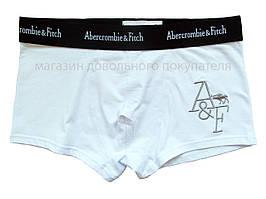 Мужские трусы боксёры Abercrombie&Fitch (реплика) белые