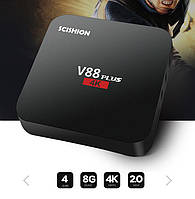 SMART TV Android V88Plus, смарт ТВ приставка  2GB/8Gb медиаплеер, IPTV