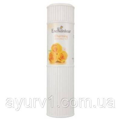 """Enchanteur Charming perfumed talc / Парфюмированный тальк для тела """"Роза"""" с легким ванильным ароматом/ 125 г."""