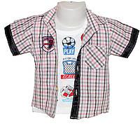 Рубашка+футболка 100% коттон  для мальчика Арт.351 Разм.80-110