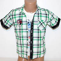 Рубашка+футболка 100% коттон  для мальчика Арт.386 Разм.80-110
