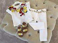 Нарядний костюм для дівчинки, штани+блузка