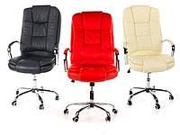 Кресло офисное компьютерное Calviano MAX MIDO на колесиках Эко кожа