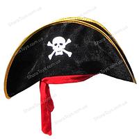 Пиратская шапка с повязкой велюровая