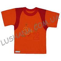 Комбинированная футболка с вышивкой на рост 92-98 см - Кулир