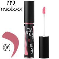 Malva Блеск для губ M-490 Velvet Matte Тон 01 pink rose матовый