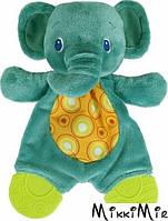Плюшевая игрушка-прорезыватель Мягкие друзья, слоненок, Bright Starts, слон