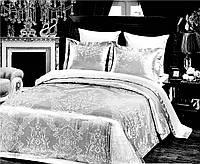 Комплект постельного белья 200х220/70*70 ARYA Жаккард  Jolanda белый