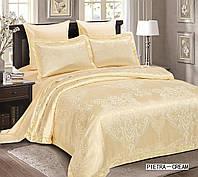 Комплект постельного белья 200х220/70*70 ARYA Жаккард Pietra кремовый