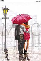 """Схема для вышивки бисером """"Влюбленные под красным зонтом"""""""