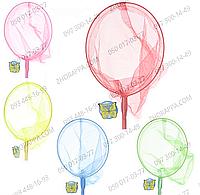 Сачок для бабочек M 0077 U/R, длина 70 см, ручка 50 см, диаметр 20 см, бамбук, представлено 5 цветов